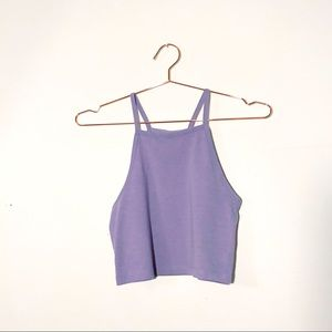 Divided High Neck Lilac Crop Top - NWOT